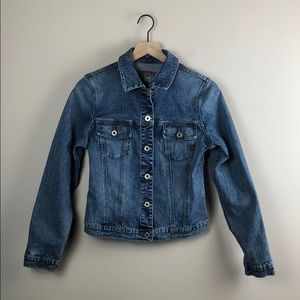 Silver Vintage Jean Jacket (Size Medium)